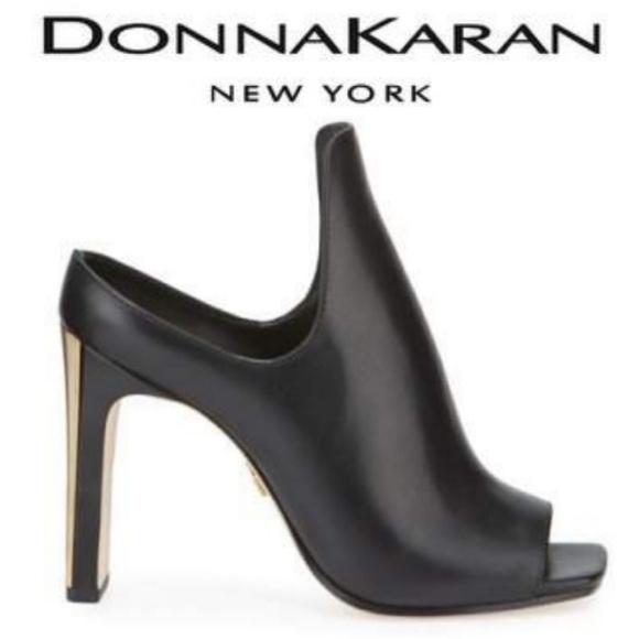 0da5c06ca3f35 🆕️ Donna Karan Leather blk Sutton Mules Boutique